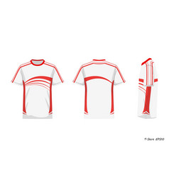 Sport shirt front back side view isolated vector