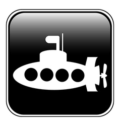 Submarine button vector image