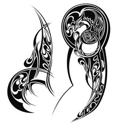 tattoo arm vector image