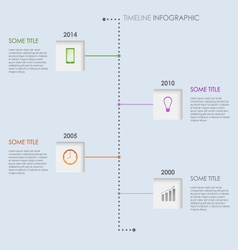 Time line info graphic elements template vector image