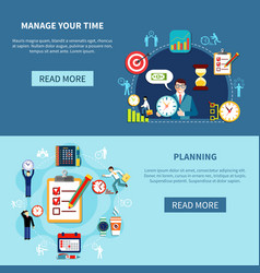 Time management banners set vector