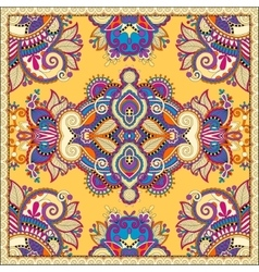 Traditional ornamental floral paisley bandanna vector image