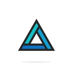 Triangle logo element with strict corners vector image