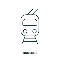trolleyibus icon outline style icon design ui vector image
