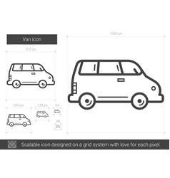Van line icon vector