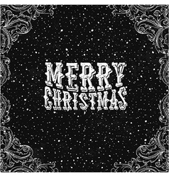 Vintage Christmas Card Black and white vector