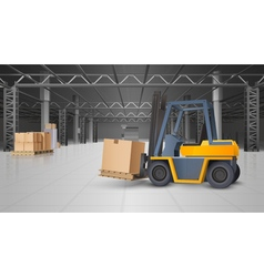 Warehouse Interior And Logistics Background vector image