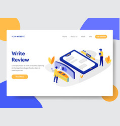 writing review concept vector image