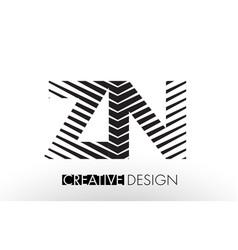 zn z n lines letter design with creative elegant vector image