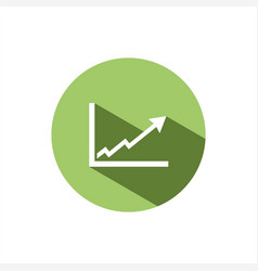 benefits chart icon on green button vector image