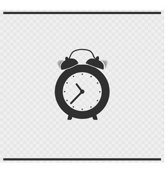 clock icon black color on transparent vector image vector image