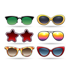 colored sunglasses with reflection vector image