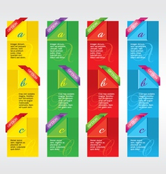 Colorful Vertical Banners vector image