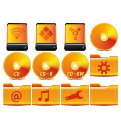 gold icon set 1 of vector image vector image