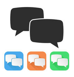 speech bubbles colored icons vector image