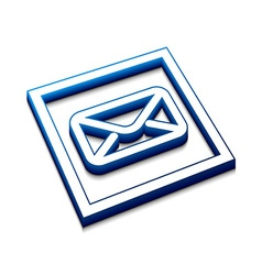 3d glossy email icon vector image vector image