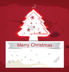christmas background ink paint style vector image vector image