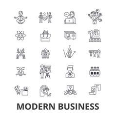 modern business management marketing plan vector image