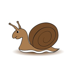 snail cartoon on white background vector image vector image