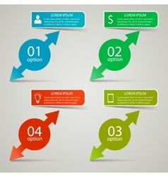 Infographic business concept vector image