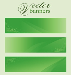 Set of green banners headers eco bio vector image vector image