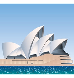 Sydney Opera House Australia vector image vector image