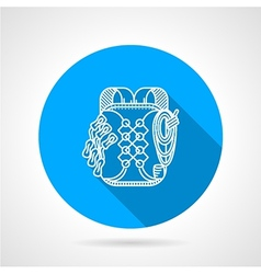 Backpack flat line icon vector image vector image