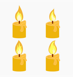 candle with fire animation vector image