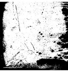 Grunge black white border vector image