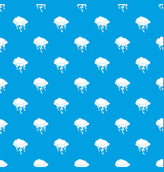 lightning bolt pattern seamless blue vector image