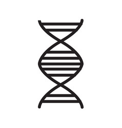 Thin line dna icon vector