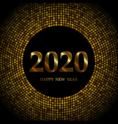 2020 new year background with gold glitter vector image
