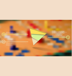3d infographic template with embossed triangle vector