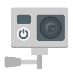 action camera flat icon device and electronic vector image
