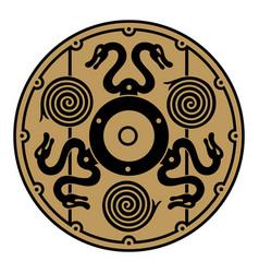 ancient scandinavian viking shield vector image