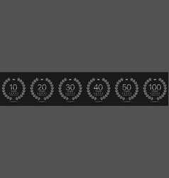 anniversary laurel wreath set vector image