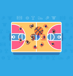 basketball match top view vector image