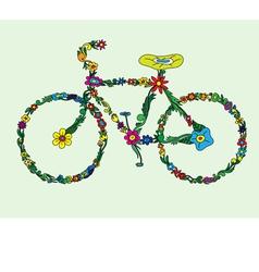 Bike floral vector