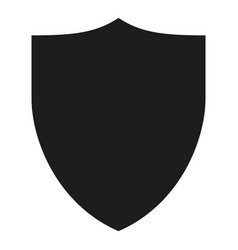 black and white simple shield silhouette vector image