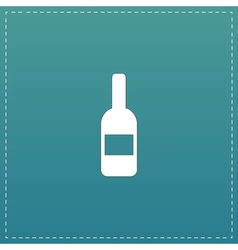 Bottle with label vector
