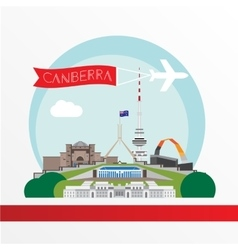 Canberra detailed silhouette Trendy vector
