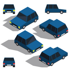 car isometry low detailing isometric view the vector image