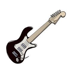 Cartoon image of guitar vector