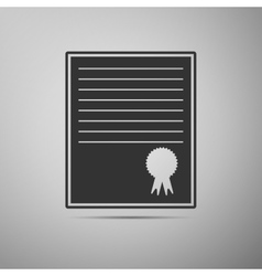 Certificate template icon vector image