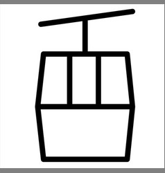 Chairlift hill holiday mountain ropeway vector