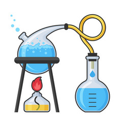 chemistry laboratory and science equipment vector image