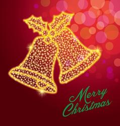 christmas bellmerry christmasstar vector image