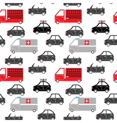 City car seamless pattern vector