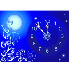 Clock and vignette vector