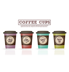 Collection coffee badges and logo design on coffee vector